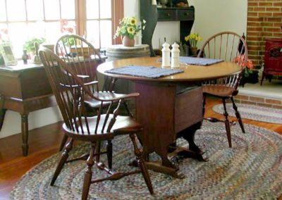 Hutch Table & Windsor Chairs