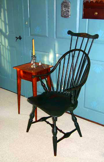 Windsor Continuous Arm Chair with crest