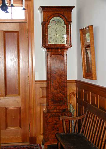 Philadelphia Tall Case Clock with moon dial