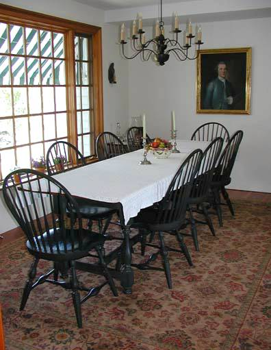 Table & Windsor Bow-back Chairs