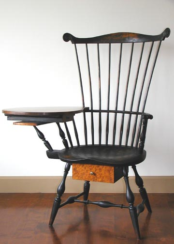 & Writing Arm Chair w/ Tiger Maple - Chris Harter