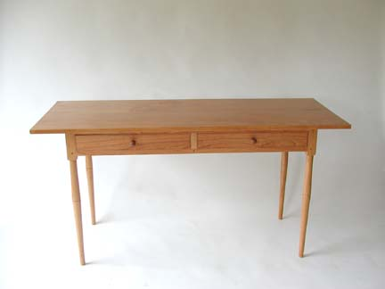 Shaker Table W/ Drawers. Cherry